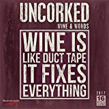 Uncorked! Wine & Words - Primitives by Kathy 2017 Wall Calendar