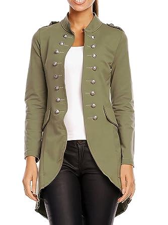 Chaqueta de mujer estilo blazer militar, blazer de sudadera ...