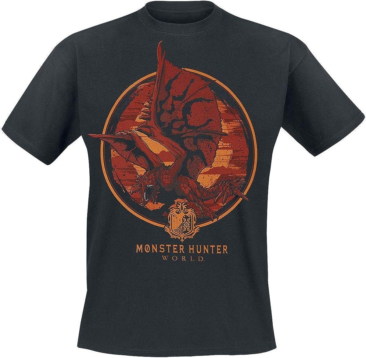 Monster Hunter World - Screaming Rathalos Camiseta Negro