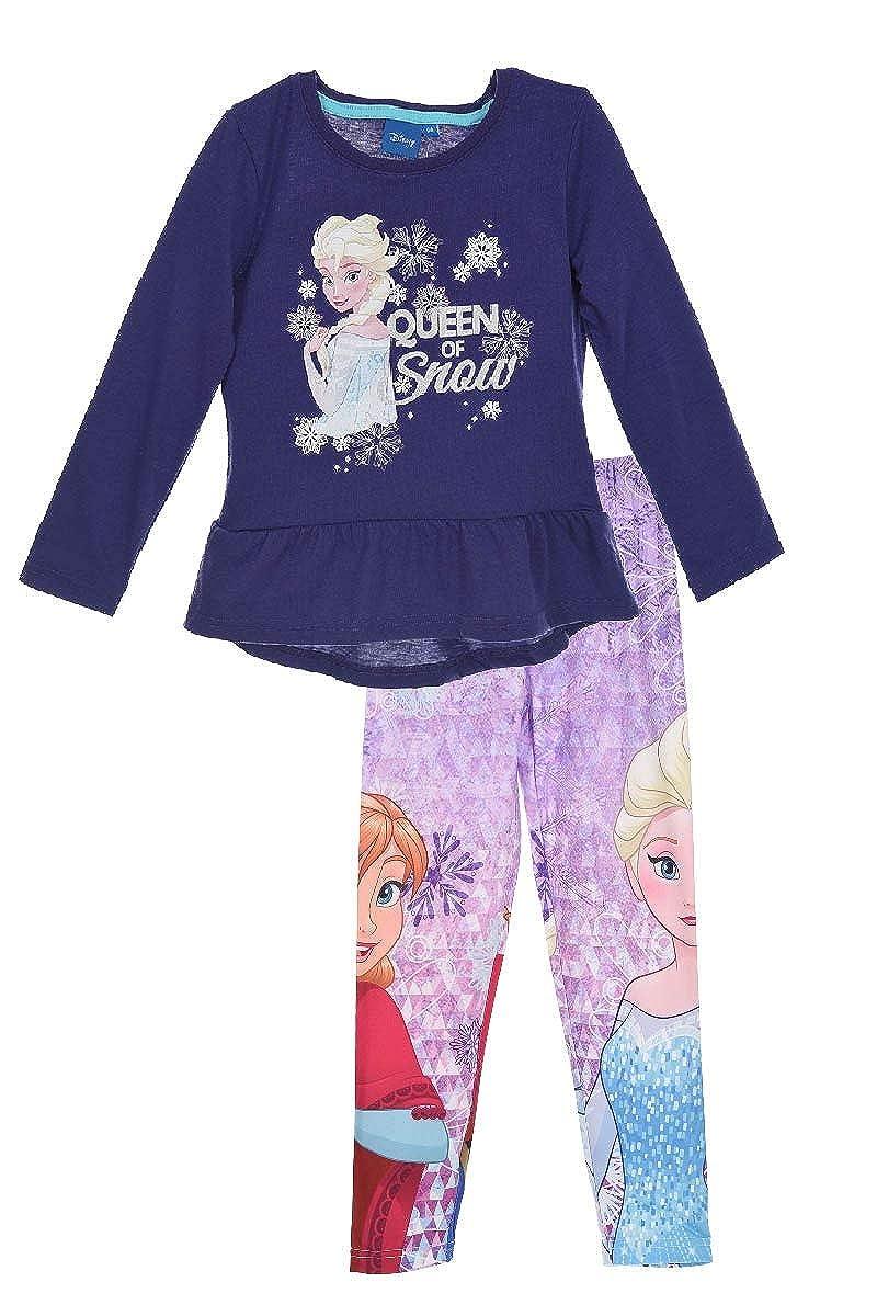 Leggings Set Die Eisk/önigin Disney ELSA Tunika Langarmshirt Frozen