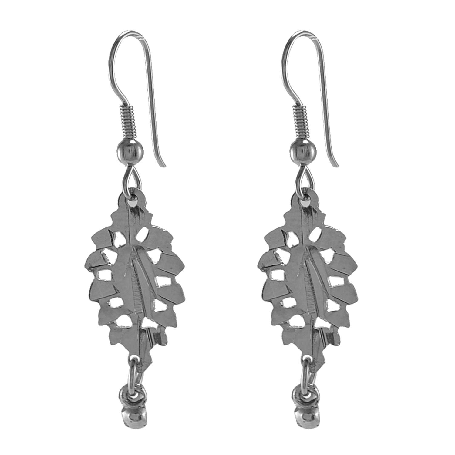 Silvestoo Jaipur 925 Silver Plated Top Earring For Women /& Girls PG-126177