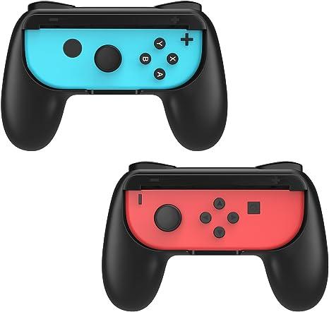 MoKo Mandos Joy-con Grips Compatible con Switch, [2 Paquetes] Handle Kits para Switch Controlador, Negro: Amazon.es: Electrónica