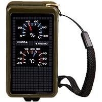 CNluca Compensador de Lentes Plegables Militar Americano 10 Funciones Compass Kits de Herramientas para Acampar Escalada al Aire Libre
