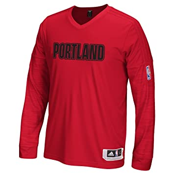 Adidas Portland Trail Blazers 2015 NBA on de Court Authentic L/S Shooting Camiseta,