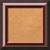Framed Cork Board, Choose Your Custom Size, Cambridge Mahogany Wood