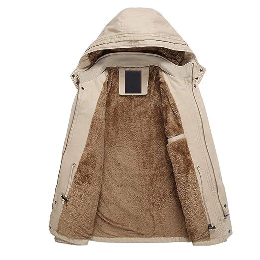 Abrigo Casual de Invierno para Hombre Capa Cortaviento de algodón de Terciopelo Engrosamiento mediode de Internet: Amazon.es: Ropa y accesorios