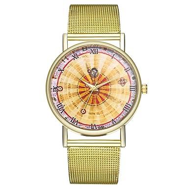Amazon.com: Iuhan Wrist Watches for Women Girls Holiday Deals, Vintage Ladies Round Mesh Strap Watch Bracelet Quartz Fashion Watch Valentines Gifts (B): ...