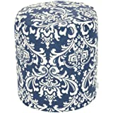Majestic Home Goods Pouf, Small, French Quarter, Navy Blue