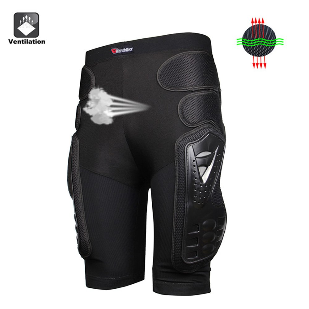 HEROBIKER Unisex Moto Sport Protective Gear Hip Pad Motorcross Off-Road Downhill Mountain Bike Skating Ski Hockey Armor Shorts (XL) by HEROBIKER (Image #7)