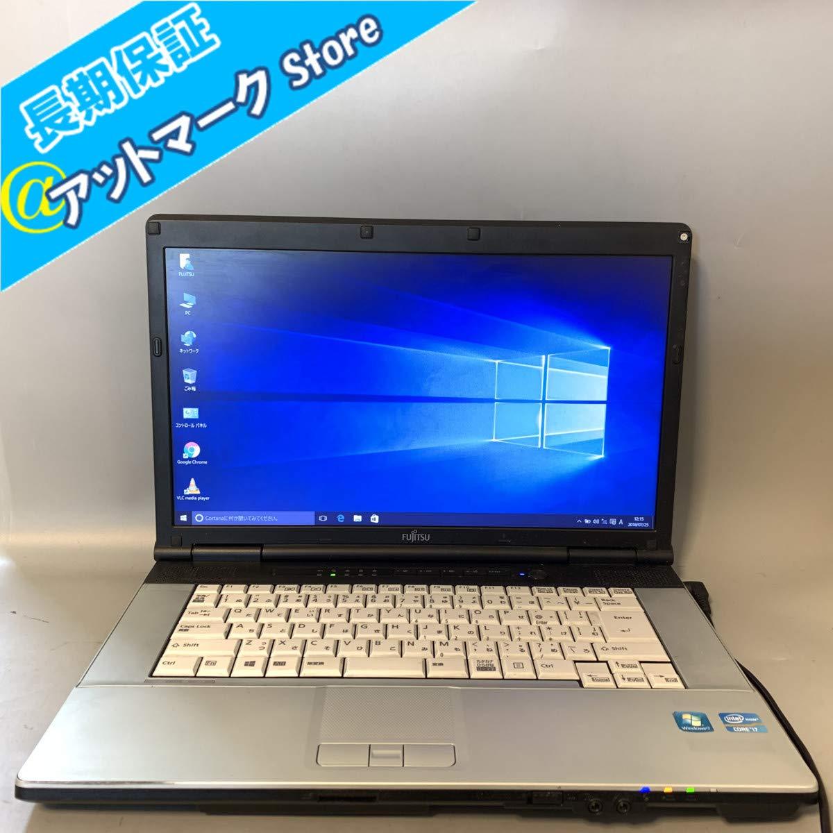 急ぎ配送可 ノートパソコン 中古動作良品 15.6インチワイド液晶 FMV 富士通 E742/F 第3世代 Corei7-3520M 4GB 320GB DVDマルチレコーダー 無線WIFI Windows10 Microsft Office2013 インストール済みワード、エクセル、パワーポイント 保証有、返品可、即使用可能   B07QTJ123V