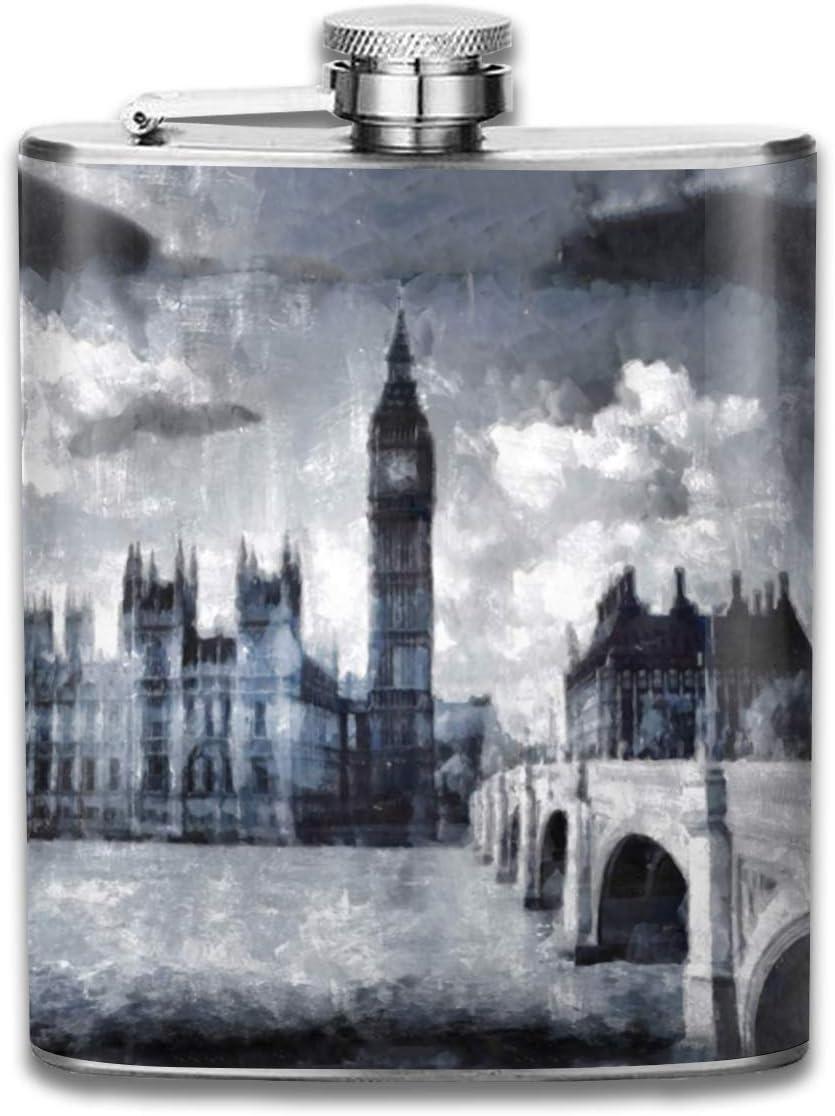 Big Ben London Watercolour Street Gift para hombres 7 oz ...