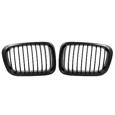 uxcell Matte Black Kidney Grille Grill for BMW 3 Series 98-01 E46 320i 325i 328i 330i 4 Door Sedan: Automotive