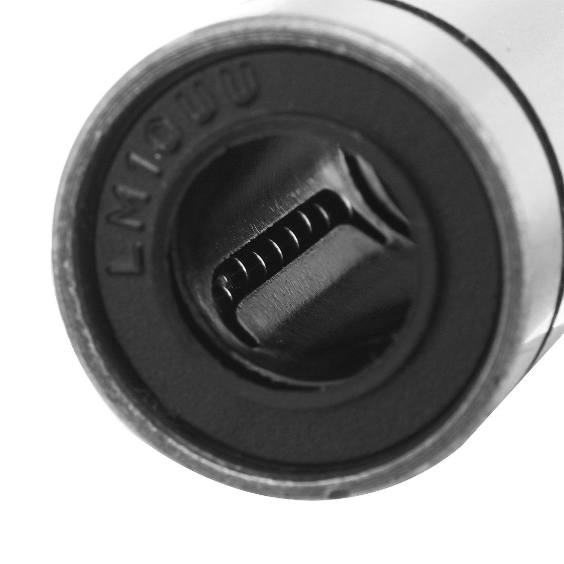 2pcs LM12LUU 12x21x57mm C/ôt/é double joint caoutchouc bague roulement /à billes lin/éaire