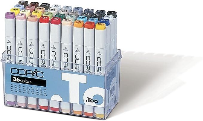 Copic - Juego de rotuladores (36 unidades, uso profesional), multicolor: Amazon.es: Oficina y papelería