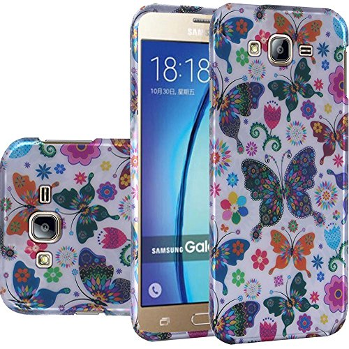 Galaxy On5 Case, HRWireless Butterfly Rubberized Hard Snap-in Case Cover For Samsung Galaxy On5, -