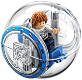 LEGO Jurassic World Gray Minifigure with gyrosphere