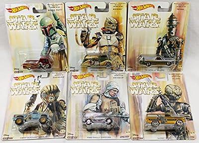 Hot Wheels 1:64 Pop Culture 2016 L - Star Wars Bounty Hunter Series Diecast 6pcs Dlb45-956l