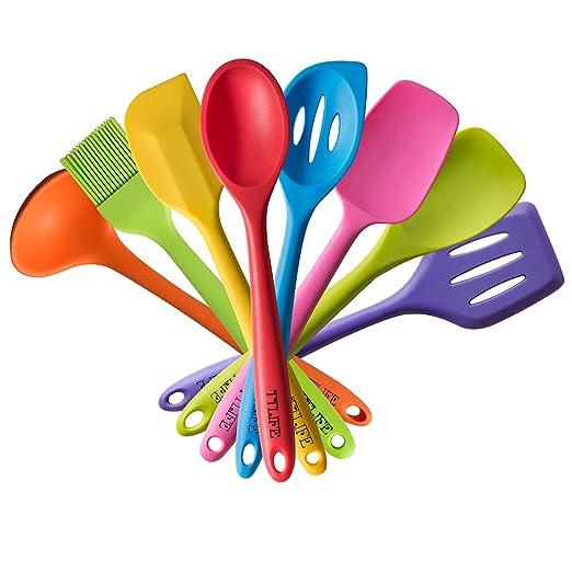 62 opinioni per TTLIFE 8pcs colorato Spatola in silicone utensili da cucina Set antiaderente in