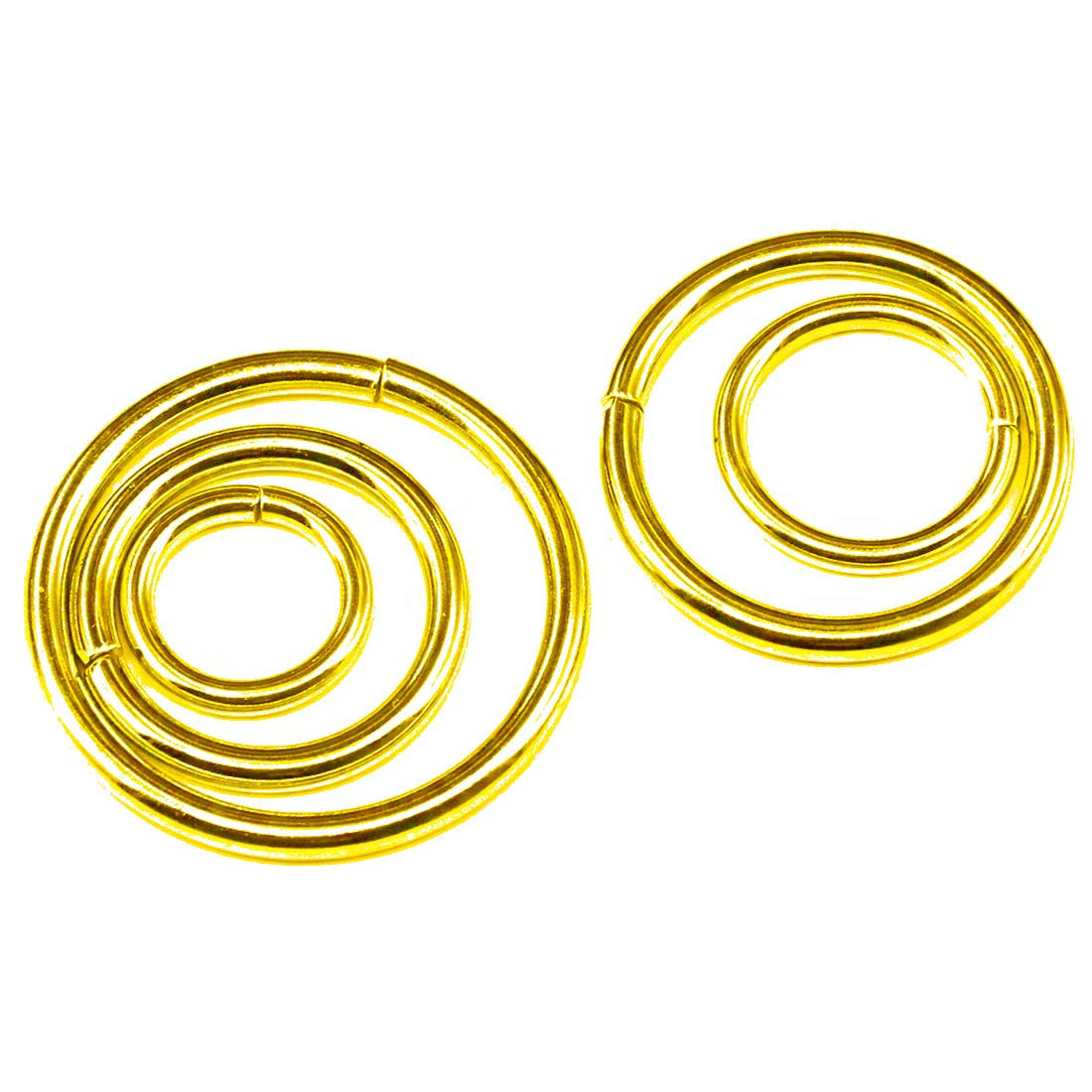 1//2 Inch 5//8 Inch 5//4 Inch Swpeet 100 Pcs Bronze Assorted Multi-Purpose Metal D Ring Semi-Circular D Ring for Hardware Bags Ring Hand DIY Accessories 1 Inch 3//4 Inch