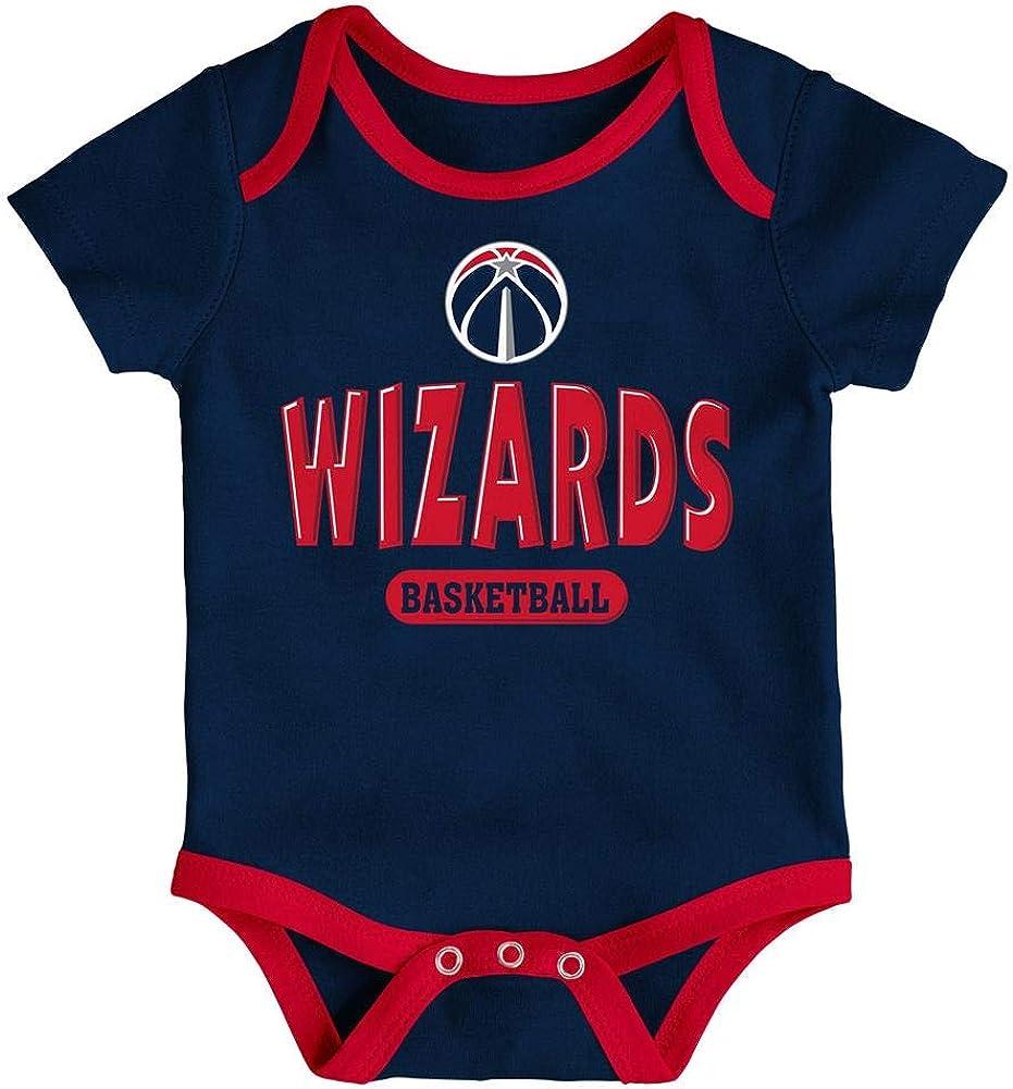 Heather Grey 6-9 Months NBA by Outerstuff NBA Newborn /& Infant Washington Wizards Little Fan 3pc Bodysuit Set