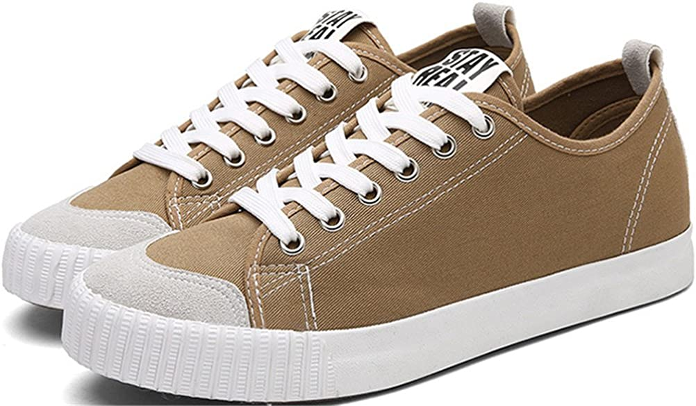 SATUKI Canvas Shoes for Men,Fashion Sneakers,Casual Lace Up Soft Lightweight Athletic Sports Shoes