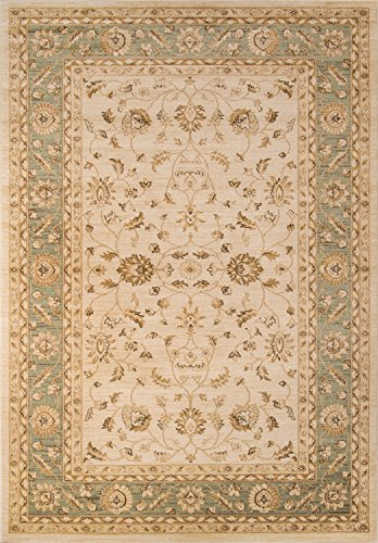 Momeni Rugs ZIEGLZE-04GRN2030 Ziegler Collection, Traditional Area Rug, 2' x 3', (Chobi Collection)