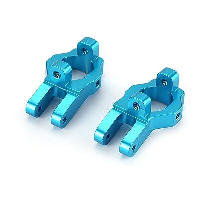 HONZIRY Mini Lightweight RC Car Actualizaciones Piezas CNC Metal Front C Block Axle con Tornillos para FY-01/02/03/04/05/07 12428 12423 (Color: Azul): Juguetes y juegos