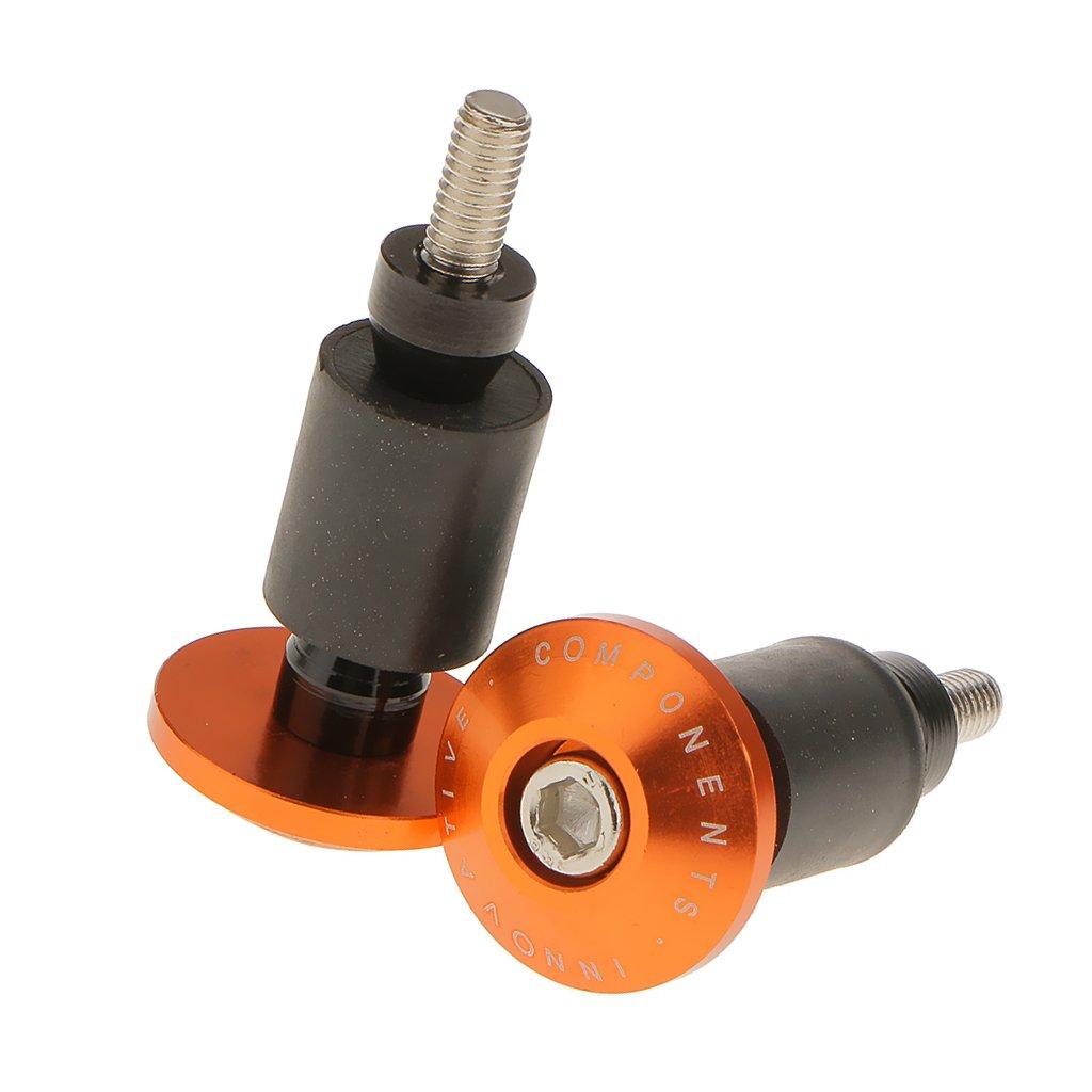 1Pair Motorcycle Grip Doctor 7//8 Inch 22mm Handlebar Bar End Plugs Orange