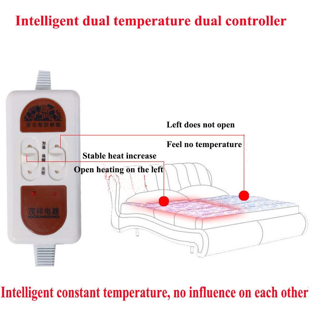 Manta Eléctrica Doble Control Inteligente Doble Temperatura: Calefacción Segura, Prueba Agua, Caliente Y Rápida, Lavable Máquina,B,150 * 180: Amazon.es: ...