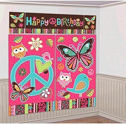 Amazon.com: Amscan Hippie Chick Cumpleaños Party Escena ...