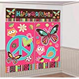 """Amscan Hippie Chick Birthday Party Scene Setters Decoration (5 Pack), 59"""" x 65"""", Multicolor"""