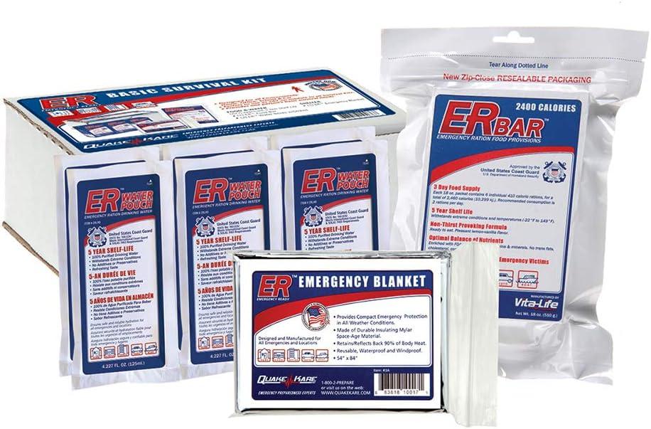 ER Emergency Ready SK1B - 1-Person Basic Boxed Survival Kit
