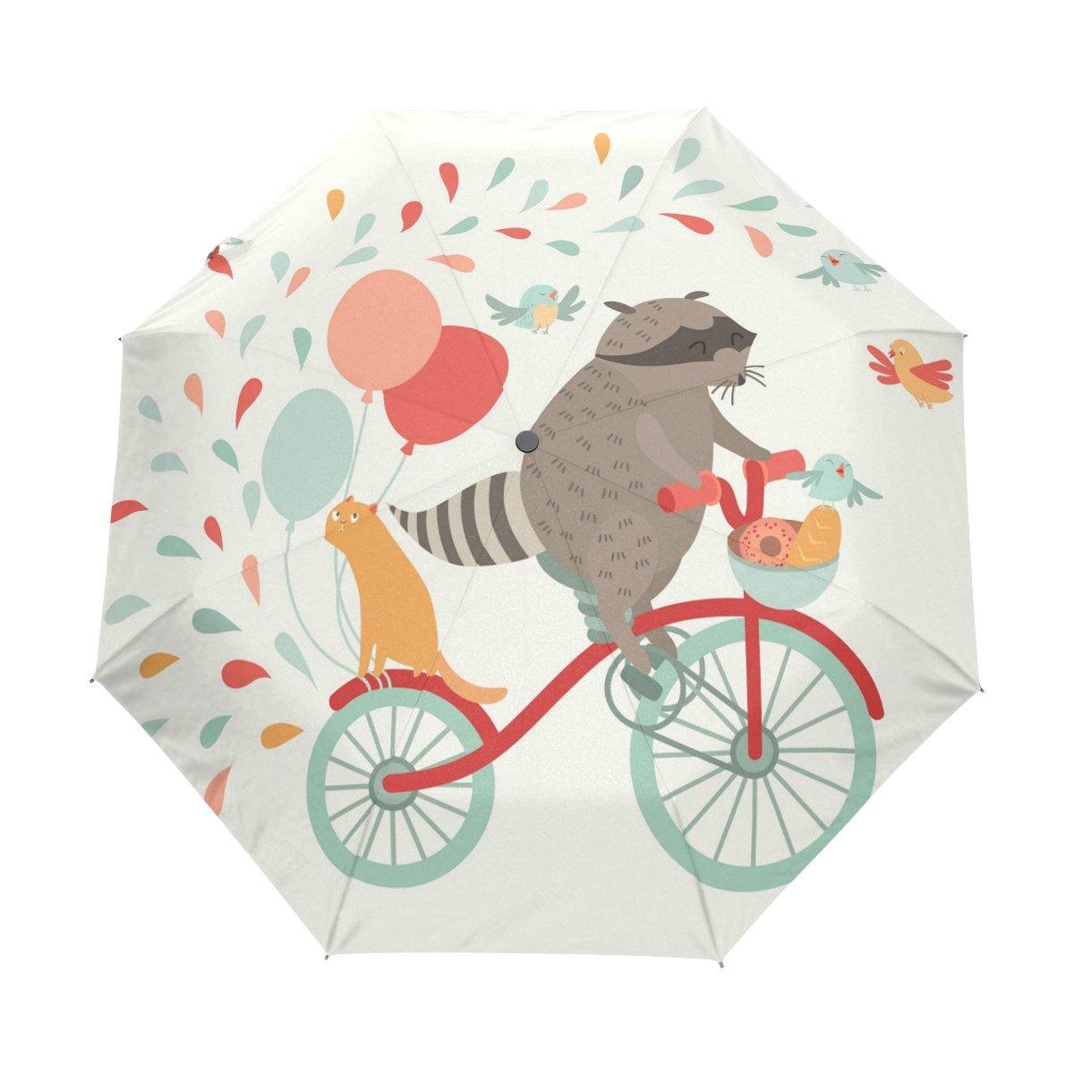 Custom Tree of Life Compact Travel Windproof Rainproof Foldable Umbrella