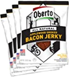 Oberto All-Natural Applewood Smoked Bacon Jerky, 2.5 Ounce (Pack of 4)