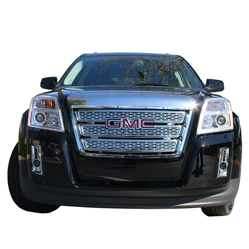 SUV Truck Car Front Grille Inserts Overlay Trim for 2010-2015 GMC Terrain -Chrome Snap On Mesh Screen Van /& Jeep Replacement Accessories