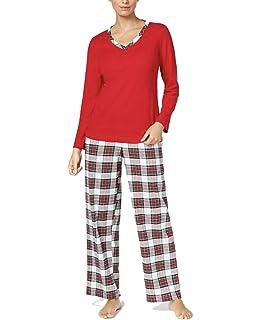 3db3810293 Charter Club Women s Henley Top   Printed Flannel Pants Pajama Set ...