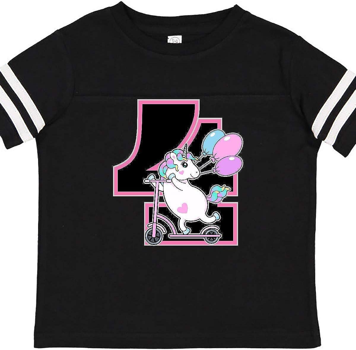 inktastic 4th Birthday Unicorn Party Girls Toddler T-Shirt
