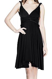 43fc7d4afe Women s Infinity Transformer Evening Dress Convertible Multi Way Wrap  Cocktail Wedding Short Gown