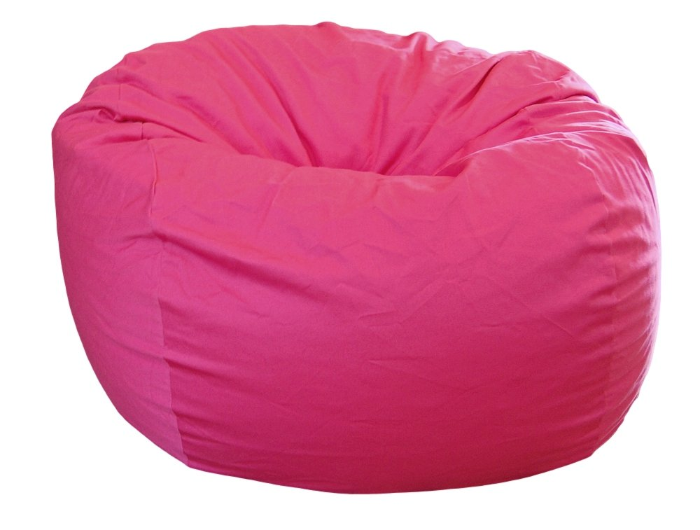 Ahh! Products Hot Pink Organic Cotton Large Bean Bag Chair by Ahh! Products