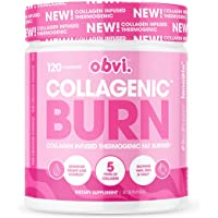 Obvi Fat Burner Capsules, Collagenic Thermogenic Fat Burner Infused with 5 Types of Collagen, Benefits Hair, Skin, Nails…