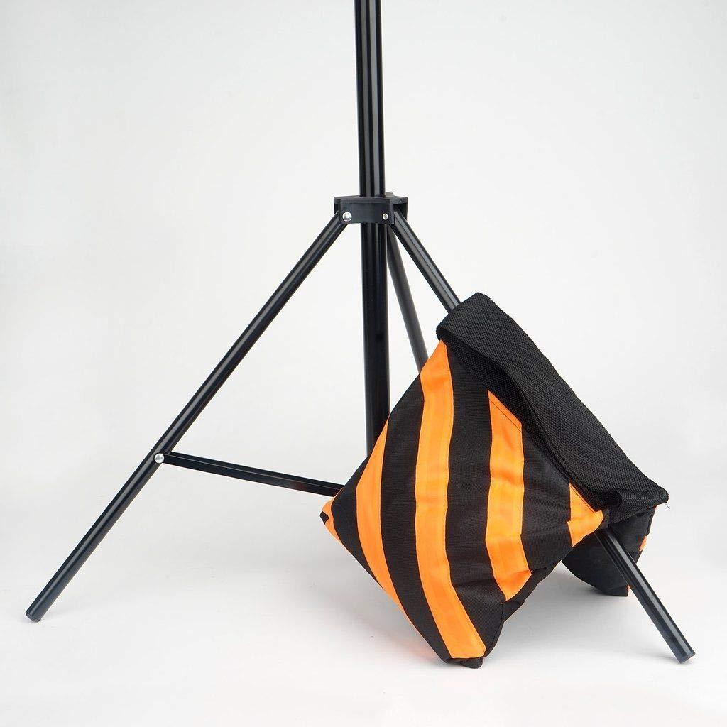 24 pcs Heavy Duty Sand Weight Saddle Bag for Photo Backdrops Wedding Party (Black and Orange)