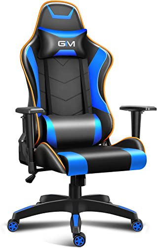 GIM Gaming Chair Ergonomic Office Computer Chair PU Leather Desk Video Game Chair Adjustable Swivel Task Chair