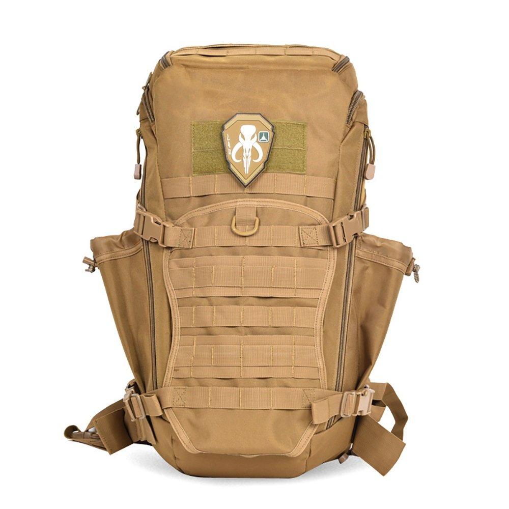 バックパック組み合わせ3d多目的Military Tactical Assault Pack Army MOLLE登山バッグフィールドトレーニングパッケージリュックサックハイキングキャンプ大容量  Wolf Brown B078HF16FH