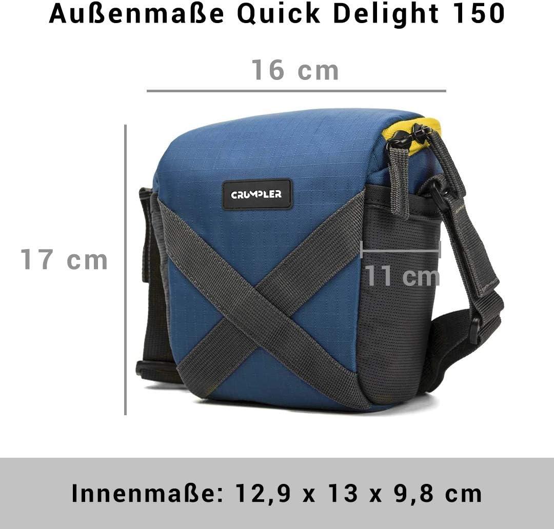 Red Crumpler QDP150-003 Quick Delight Toploader 150 Universal Shoulder Bag for Camcorder//Bridge Camera