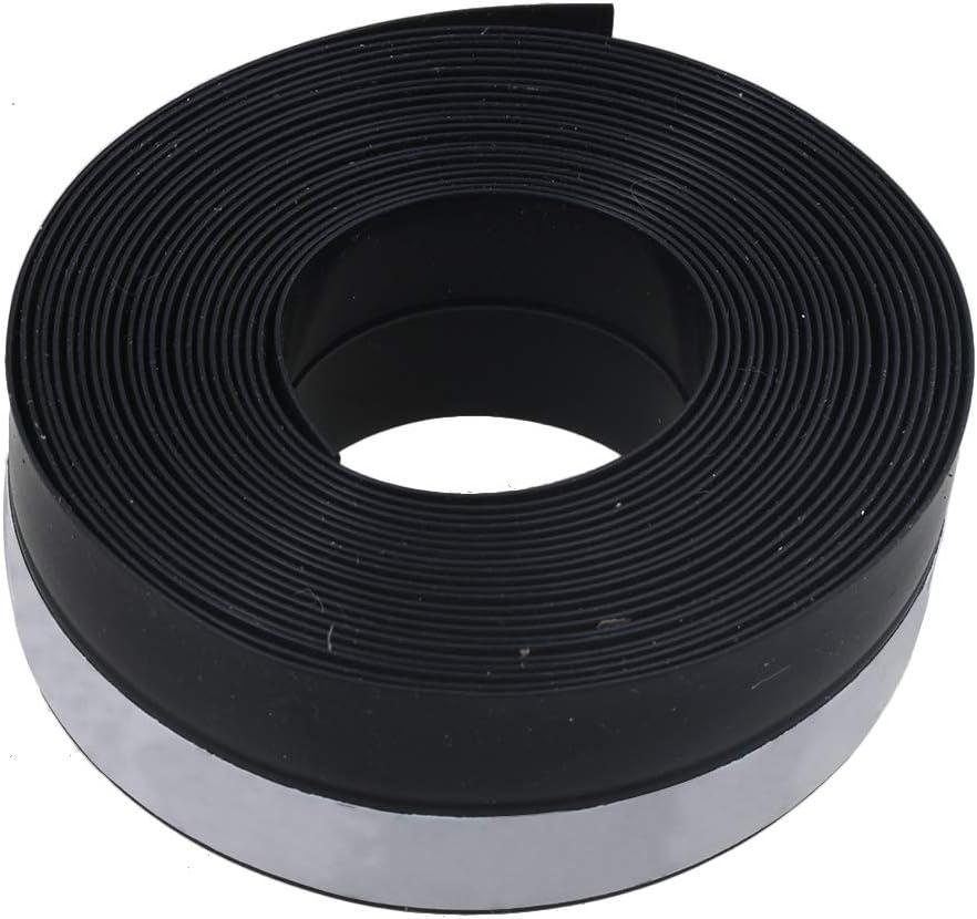 RDEXP - Tira de sellado de goma para puertas correderas de ventanas, 5 metros de longitud, color negro: Amazon.es: Bricolaje y herramientas