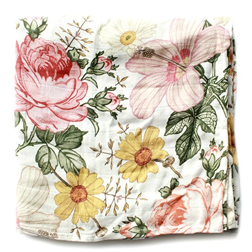 Garden Floral Swaddle - Mini Scout Soft Muslin Nursery Newborn Baby Girl Blanket Registry Essentials