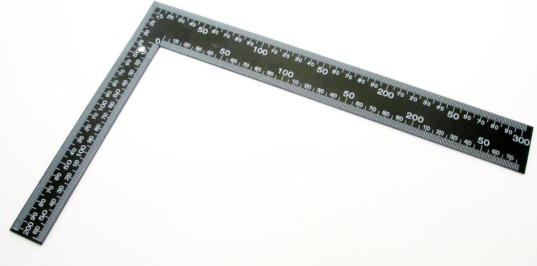 /Équerre de charpentier en acier Carr/é mesure Chevron r/ègle Pas 12 x 8-M/étrique et imp/érial /&