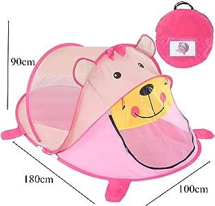 FELICIGG Tienda de campaña para bebés Bebé de Dibujos Animados Juego de Oso Casa Dormitorio Dormitorio Mosquitera de Verano Jugar (Color : Rosado) : Amazon.es: Juguetes y juegos