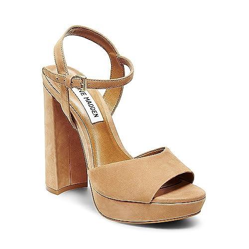 3e3162e5facd Steve Madden Women s Kierra Camel Nubuck Sandal  Amazon.ca  Shoes ...