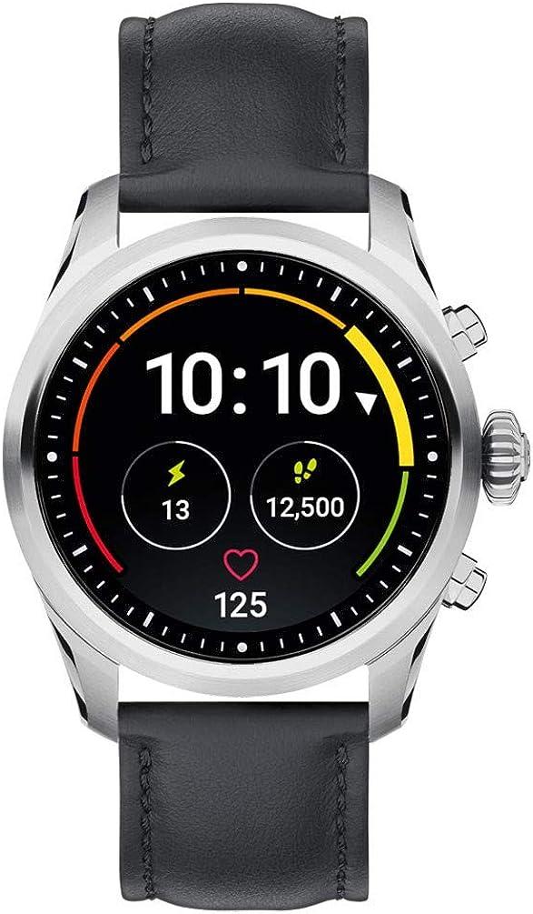 Reloj Montblanc Summit 2 Smartwatch 119440 Acero Inoxidable Piel Negra